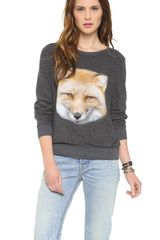 Wildfox Fox Baggy Beach Sweatshirt - Lyst