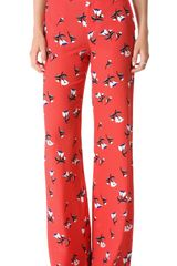 10 Crosby by Derek Lam Floral Wide Leg Pants - Lyst