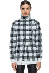 3.1 Phillip Lim Plaid Wrap Pullover with Open Back - Lyst