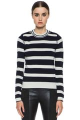 Chloé Striped Sweater - Lyst