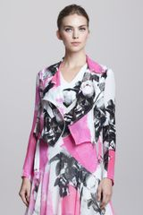 Christopher Kane Printed Silk Biker Jacket - Lyst