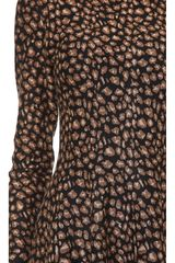 DKNY Leopard Knit Flare Dress - Lyst