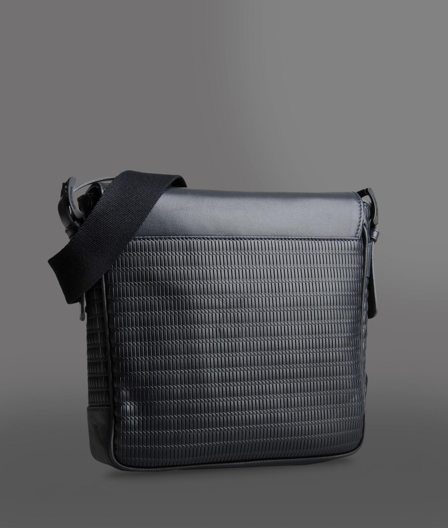 473be66e131d Lyst - Emporio Armani Messenger Bag in Black for Men