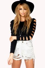 Forever 21 Cut-out Stretchfit Top