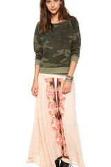 Free People Lovely Lady Maxi Skirt - Lyst