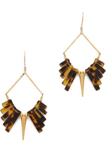 Gemma Redux Tortoiseshell Spike Earrings - Lyst