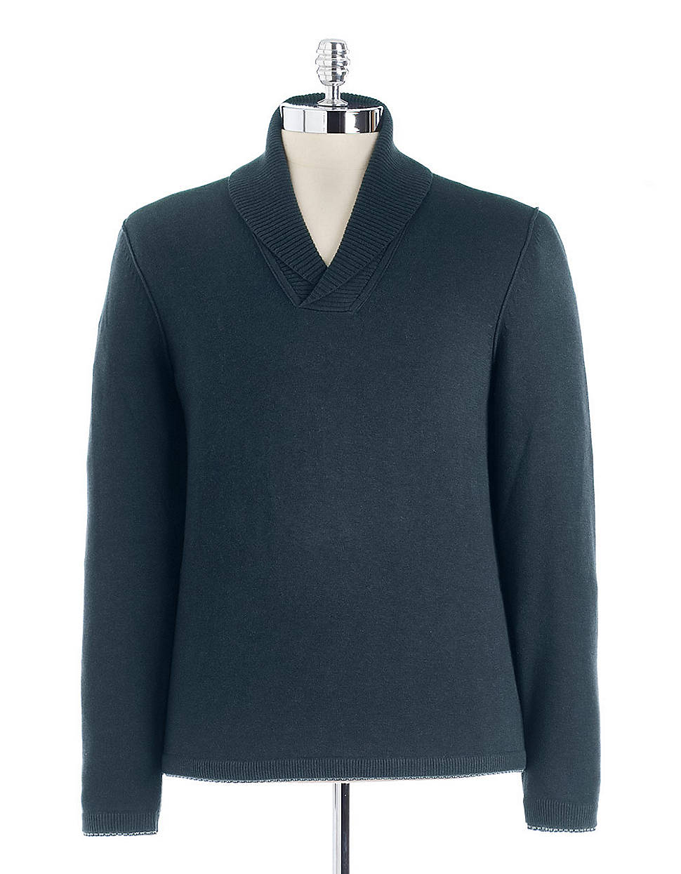hugo boss shawl collar pullover sweater in blue for men lyst. Black Bedroom Furniture Sets. Home Design Ideas