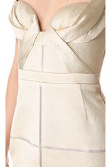 J. Mendel Draped Bustier Dress - Lyst