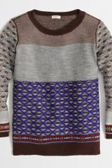 J.Crew Factory Warmspun Colorblock Fair Isle Sweater - Lyst