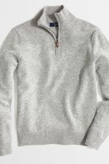 J.Crew Factory Lambswool Halfzip Sweater - Lyst
