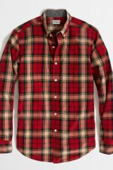 J.Crew Factory Washed Shirt in Bold Tartan - Lyst