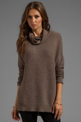 Joie Reverse Pearl Stitch Cashmere Sweater in Brown - Lyst