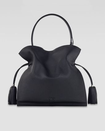 Loewe Flamenco 30 Drawstring Leather Bag Black - Lyst