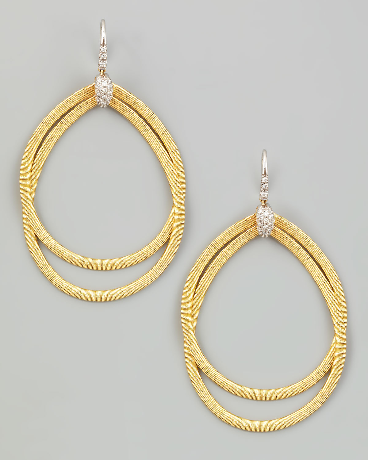 Marco Bicego Diamond Cairo 18k Serpentine-Drop Earrings