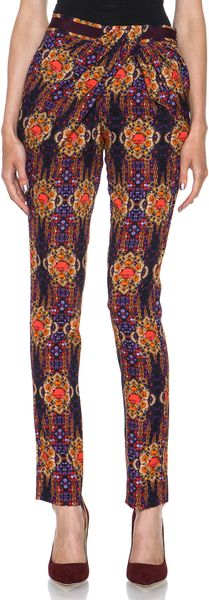Matthew Williamson Folk Jewel Twisted Drape Wrap Pant - Lyst