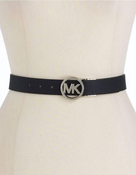 Michael Kors Reversible Leather Belt In Black Lyst