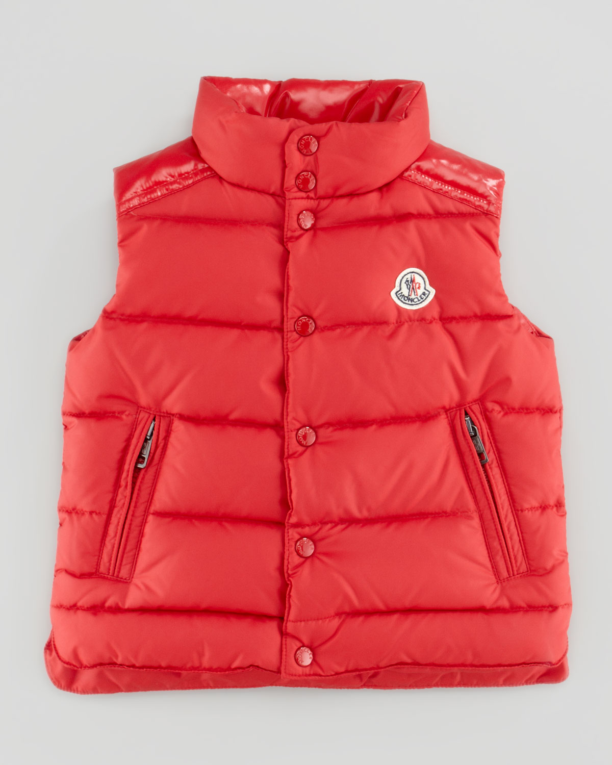 Moncler Womens Reo Quilted Down Vest Red Sizes 26 In