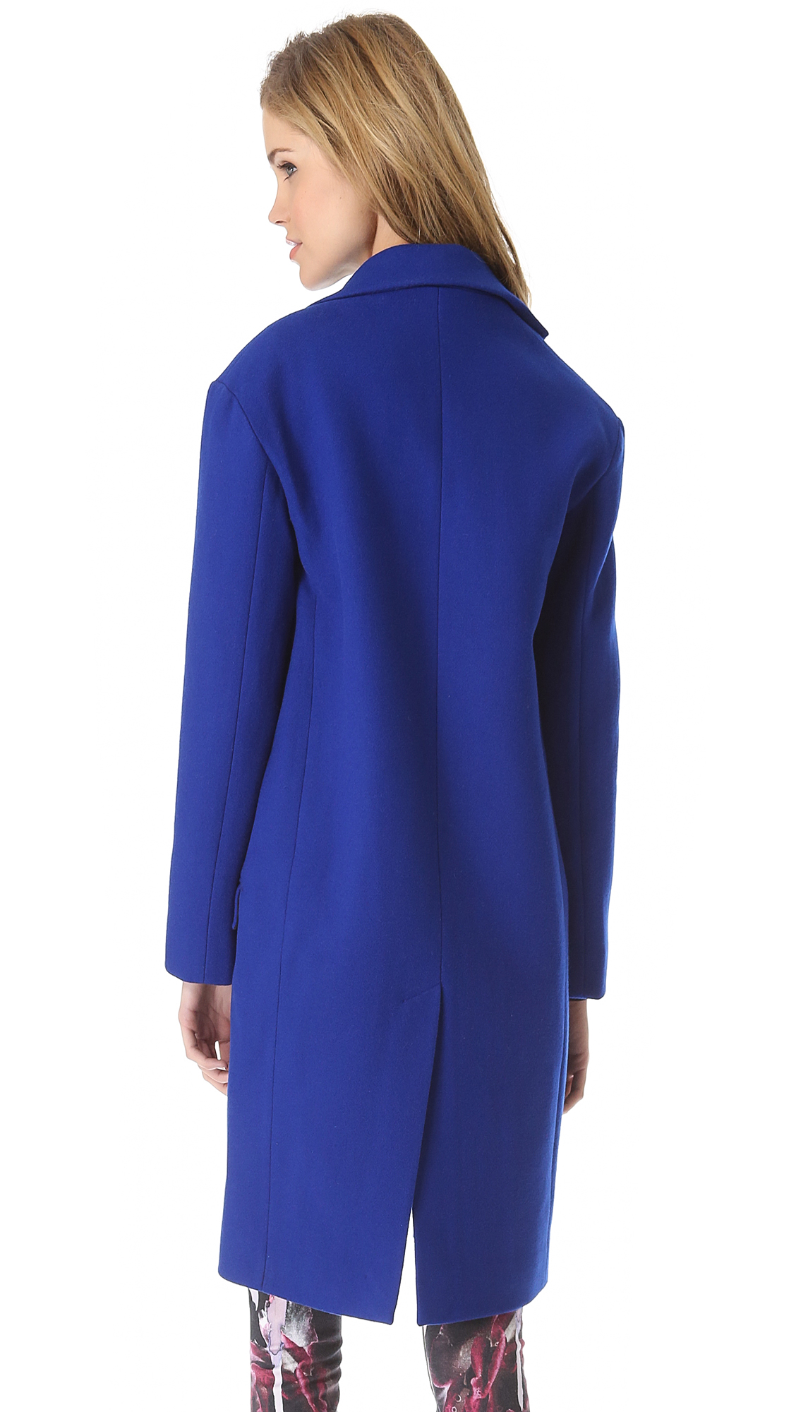 Nicholas Felted Wool Coat in Blue | Lyst