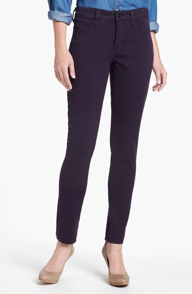 Nydj Alina Colored Stretch Skinny Jeans in Purple (Deep Amethyst) | Lyst