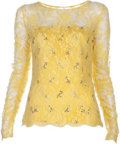 Yellow Lace Blouse 77