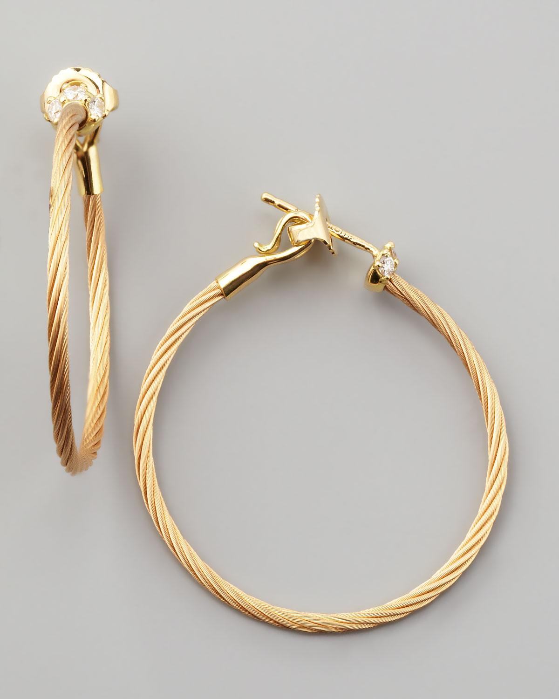 Paul Morelli 18k White Gold Diamond Cluster Hoop Earrings, 30mm