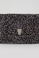 Proenza Schouler Large Printed Calf Hair Lunch Bag Clutch Blackwhite - Lyst