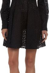 Stella McCartney Circular Lace Long Sleeve Dress - Lyst