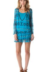 Twelfth Street by Cynthia Vincent Reversible Plunging Neck Dress - Lyst
