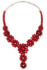 Valentino Crystal Embellished Necklace - Lyst