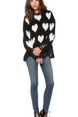 Wildfox All Over Love Loose Knit Sweater - Lyst