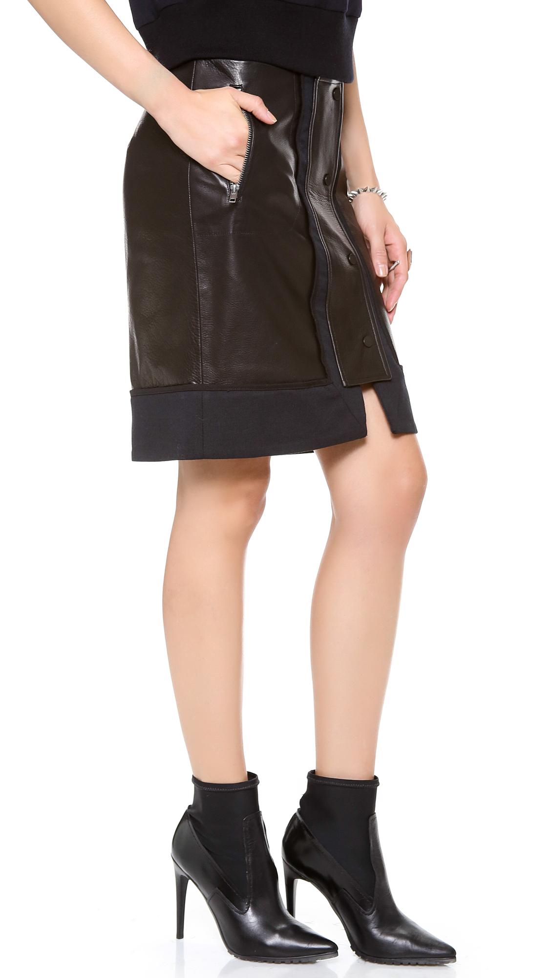 a l c nestler leather skirt in black lyst