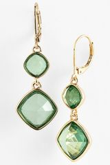 Anne Klein Double Drop Earrings - Lyst