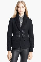 Burberry Brit Toggle Front Jacket - Lyst