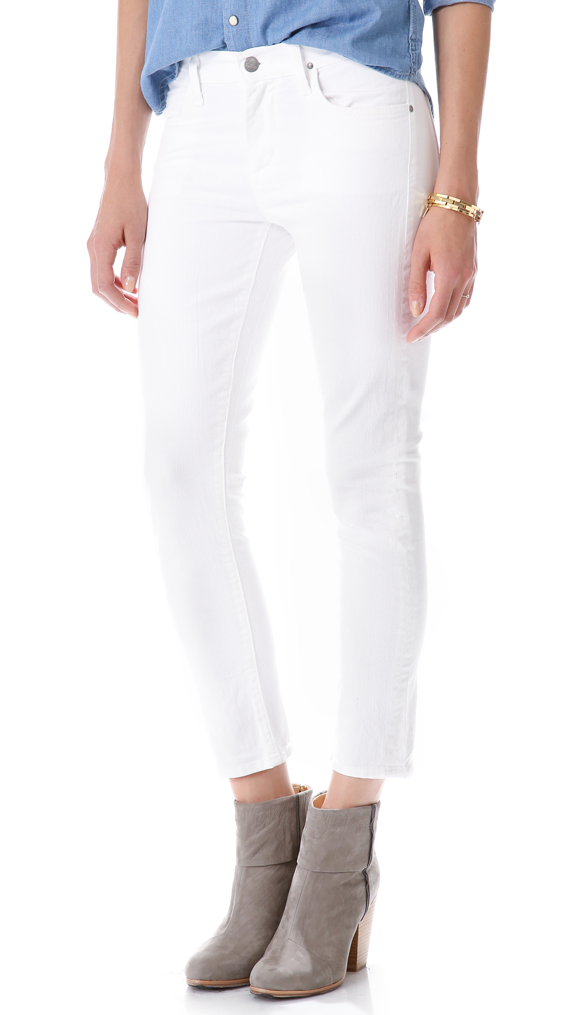 citizens of humanity carlton jeans in white lyst. Black Bedroom Furniture Sets. Home Design Ideas