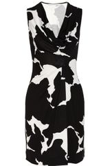 Diane Von Furstenberg Noe Draped Printed Silk-jersey Dress - Lyst