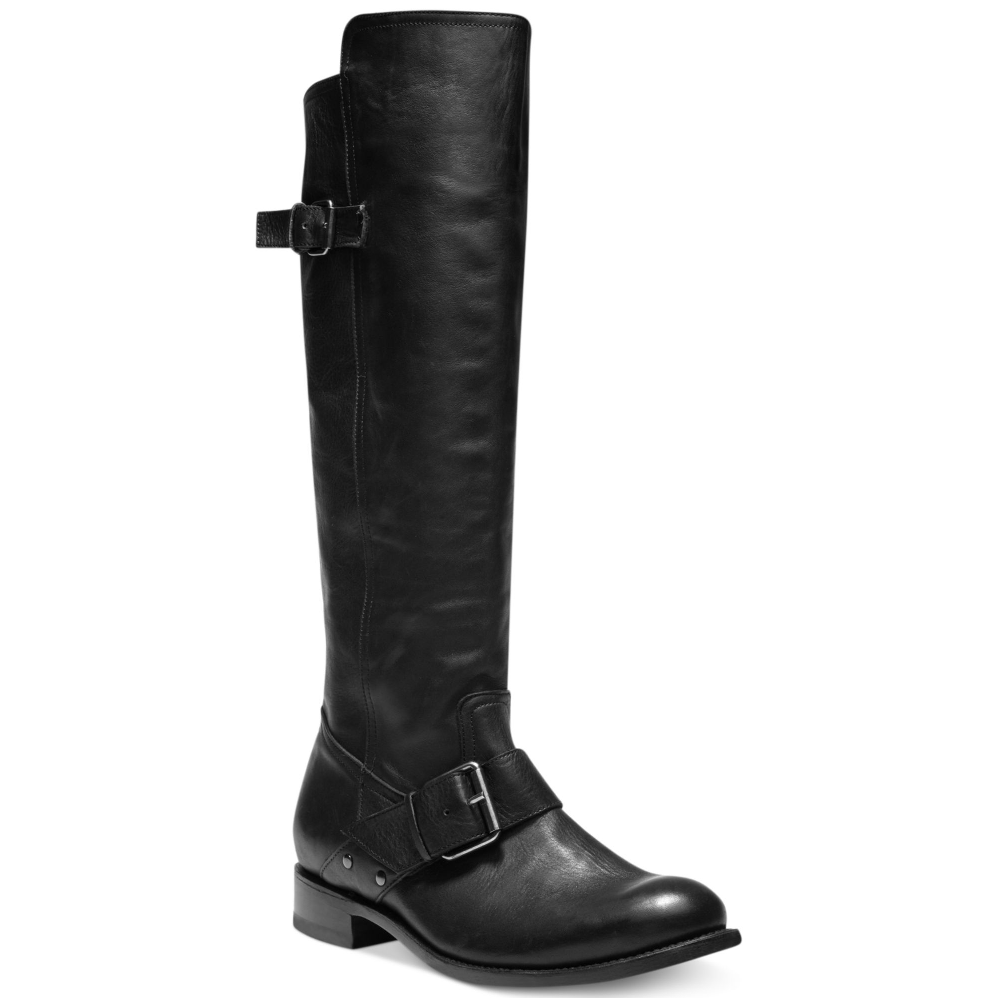 dolce vita lucianna shaft boots in black black