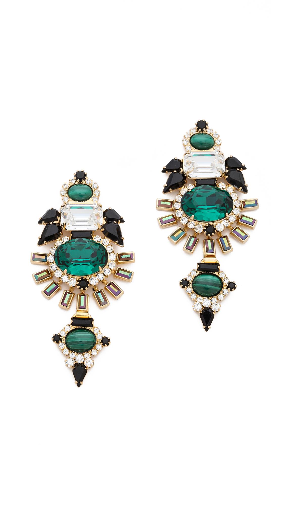 Elizabeth Cole Peace Earrings 8FF2T