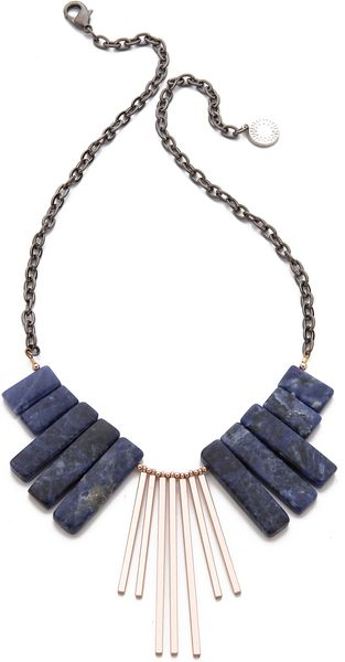 Gemma Redux Bib Drop Necklace - Lyst