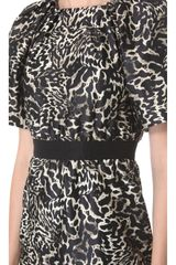Giambattista Valli Short Sleeve Leopard Dress - Lyst