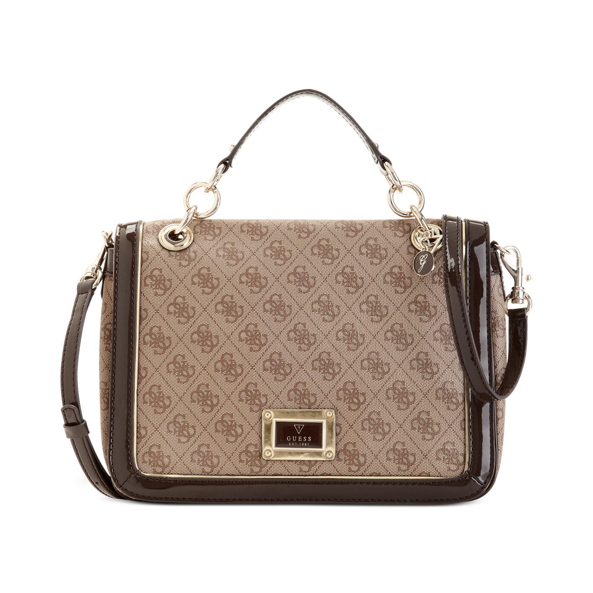Guess Handbag Reama Top Handle Flap Shoulder Bag 33