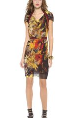 Jean Paul Gaultier Short Sleeve Printed Dress - Lyst
