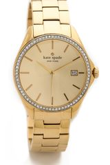 Kate Spade Seaport Grand Crystal Bezel Watch - Lyst