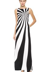 Lisa Perry Optical Maxi Dress - Lyst