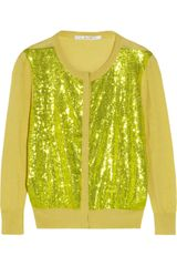L'Wren Scott Sequined Cashmere and Cotton-blend Cardigan - Lyst