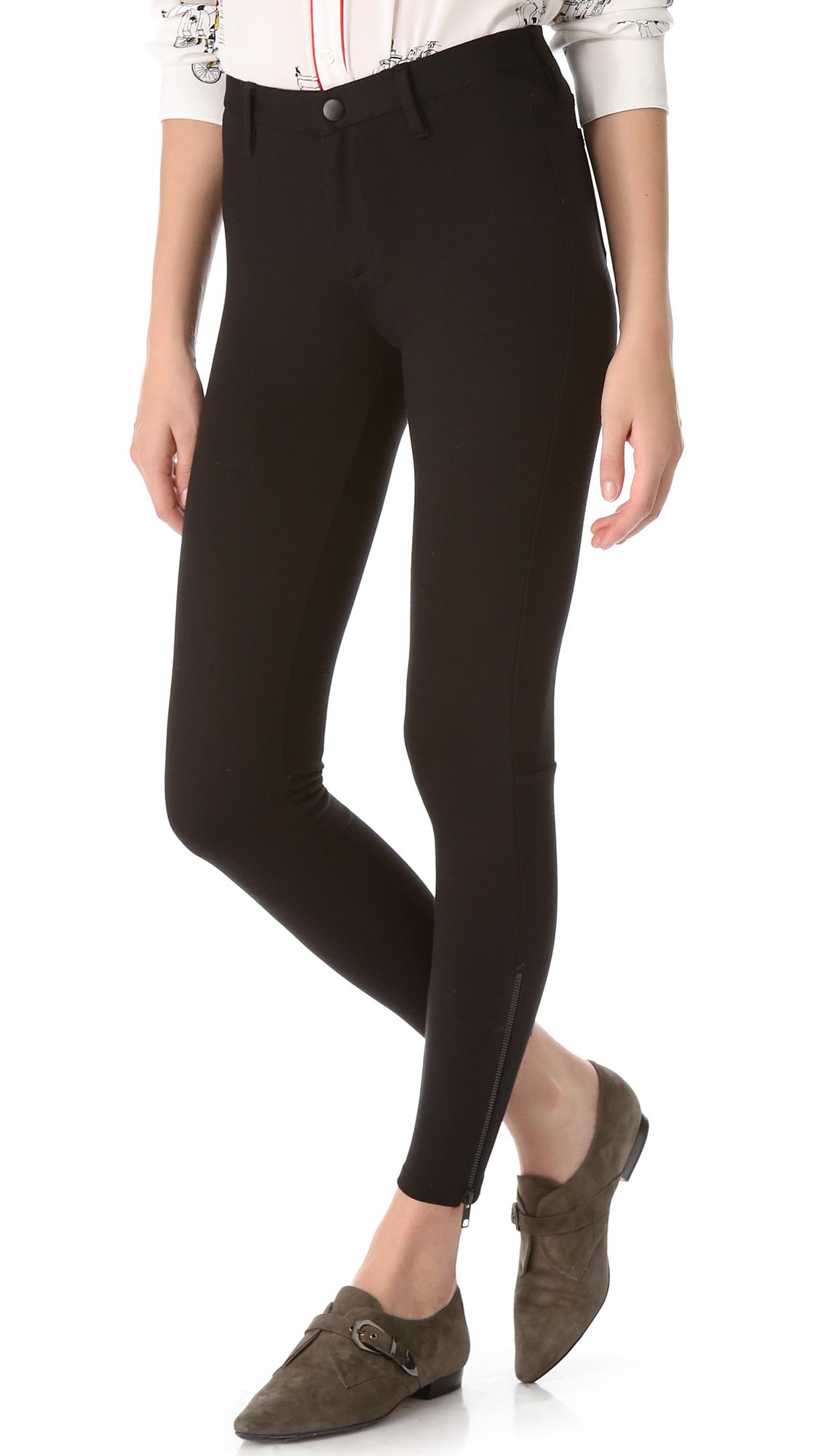 89e050f8dbd80 Lyst - Madewell Ponte Skinny Pants in Black