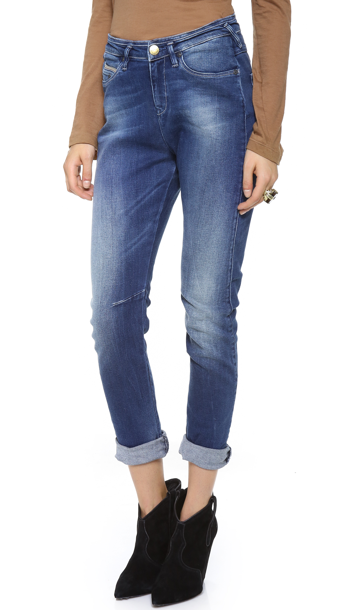 maison scotch mademoiselle slim jeans cosmopolitan blue stretch in blue cosmopolitan blue. Black Bedroom Furniture Sets. Home Design Ideas