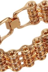 Mawi Crystal Triple Link Bike Chain Bracelet - Lyst