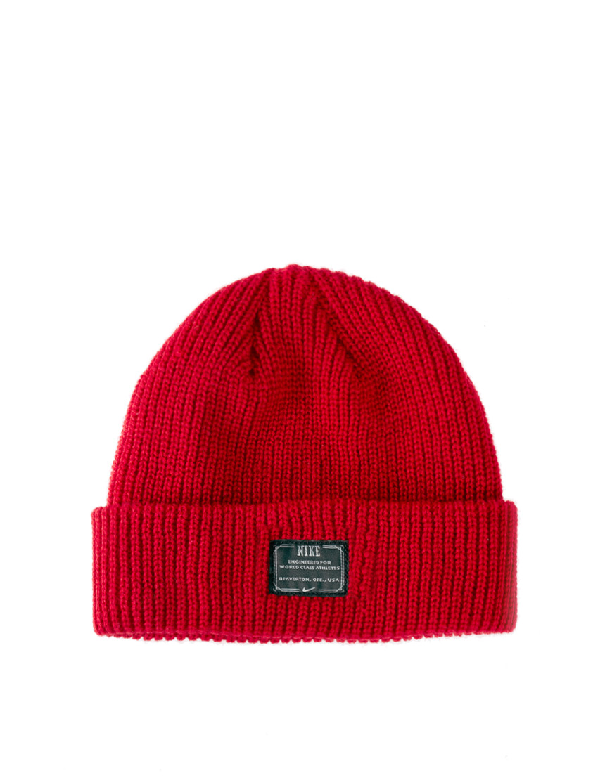 new arrival aa3cb a7d1c Nike Fisherman Beanie Hat in Red for Men - Lyst