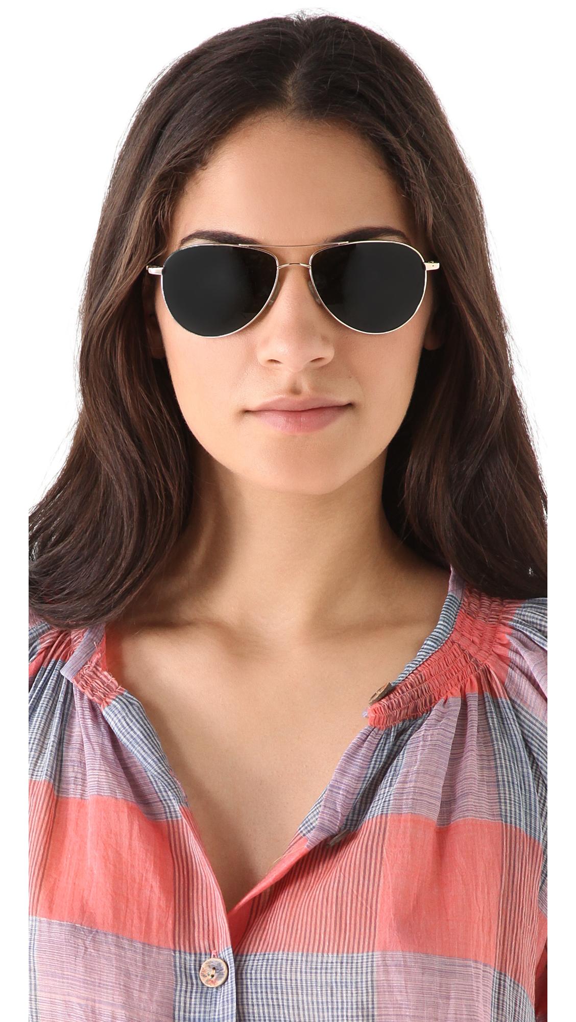 561c98ce54c Oliver Peoples Benedict Sunglasses in Metallic - Lyst