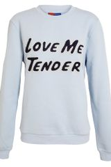 Opening Ceremony Love Me Tender Cottonblend Sweatshirt - Lyst